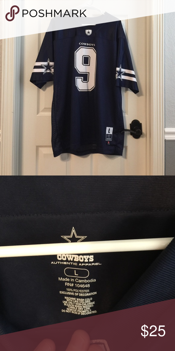 5ecc66a493f Men's large Tony Romo #9 jersey Worn a handful of times. In like new  condition. Cowboys Authentic Apparel Shirts