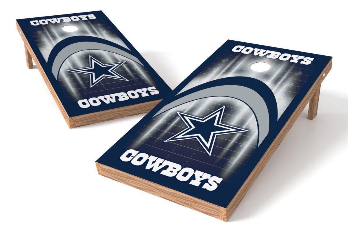 Dallas Cowboys Cornhole Board Set - Arch (w/Bluetooth Speakers)