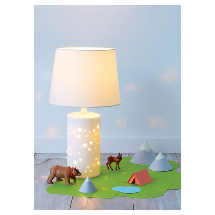 2 In 1 Starry Table White Includes Light Bulb Pillowfort White Table Lamp Table Lamp Girl Room Table