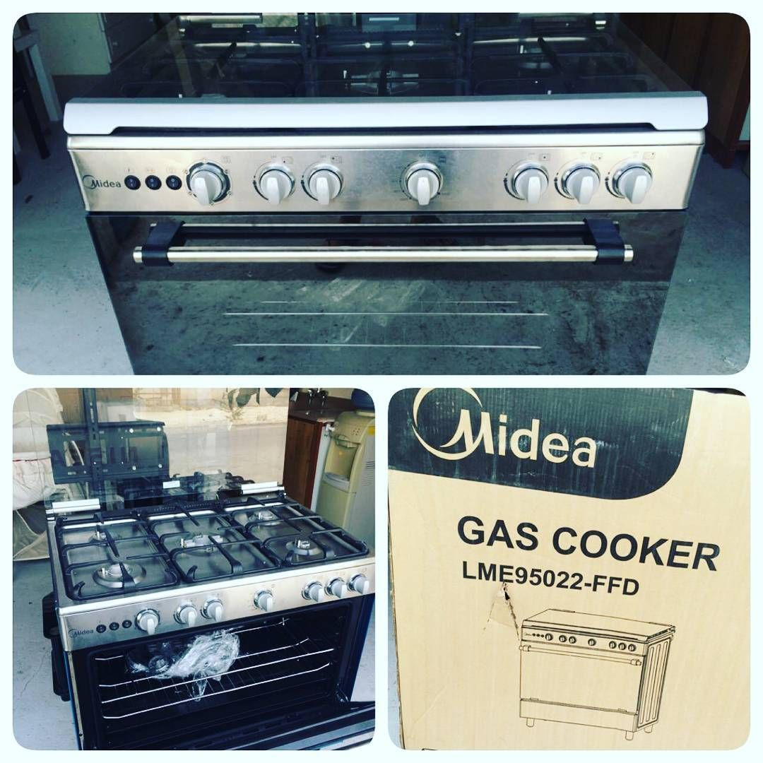 For Sale Oven Midea Gas Cooker Model Lme950022 Ffd New Price 135 Bd للبيع فرن غاز ماركة Midea 5 جول جديد السعر 135 Bd Wall Oven Cooker Gas Cooker