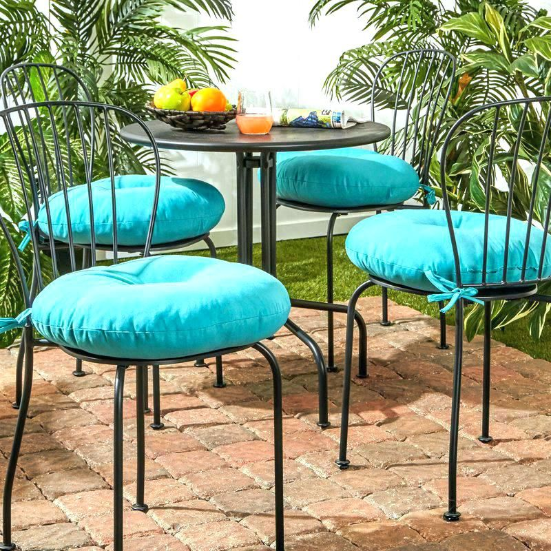 Ideas To Make Round Outdoor Chair Cushions Outdoor Chair Cushions Chairs Repurposed Bistro Chairs Outdoor