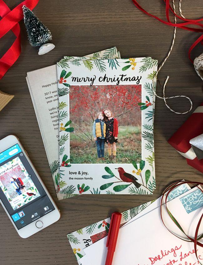 How to make your Christmas Cards on the Snapfish app! | The Snapfish ...