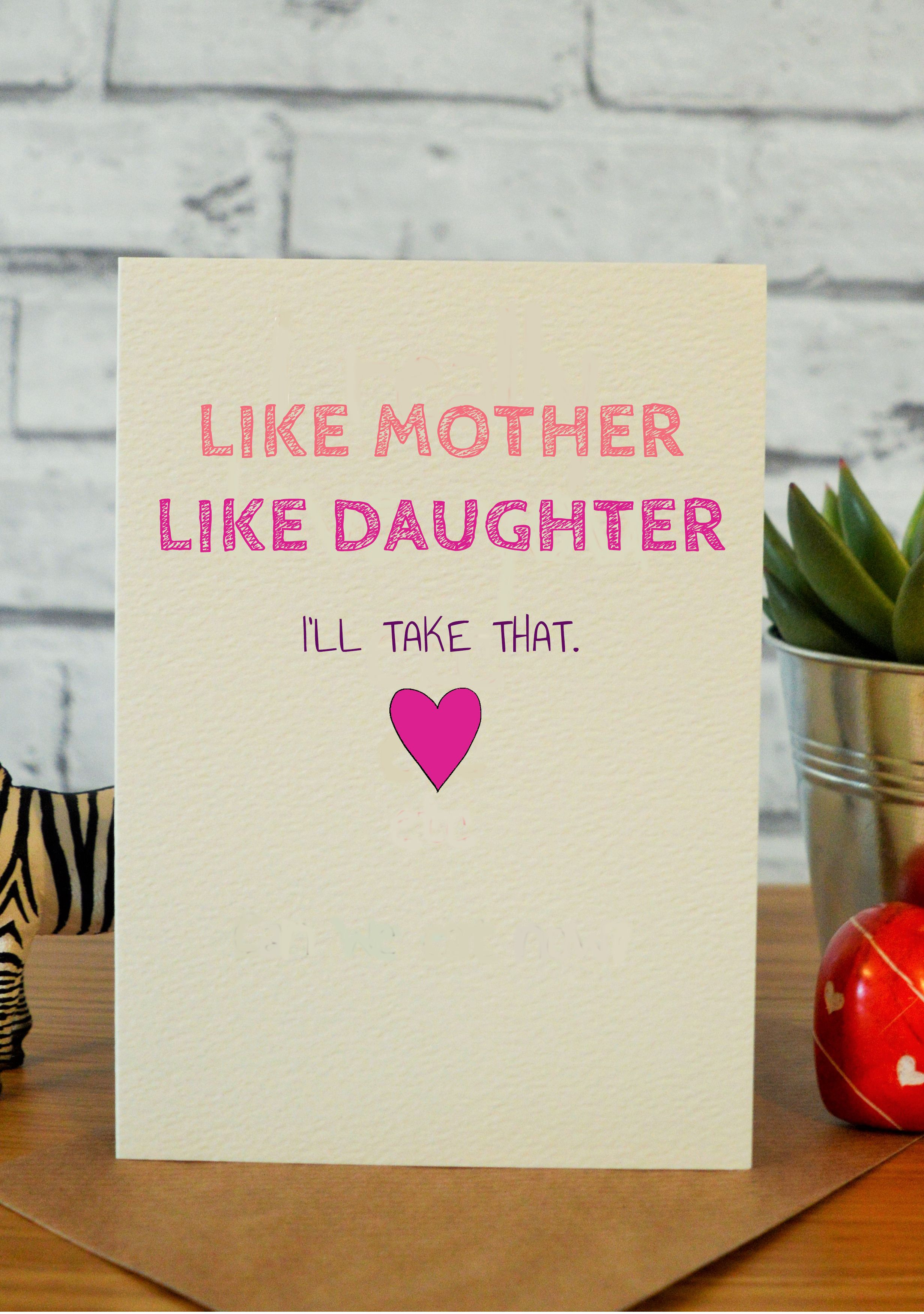 Cute Mothers Day Card For Mom Mum Funny Birthday