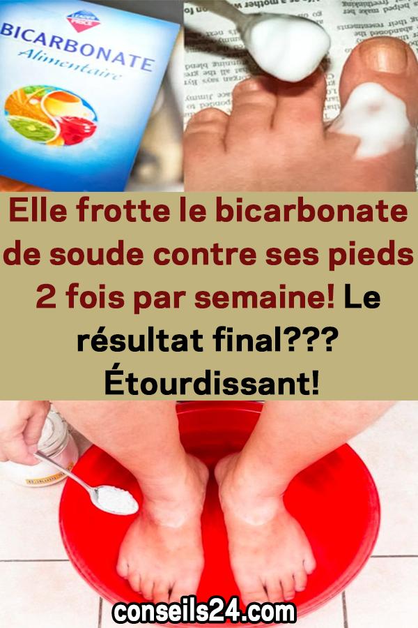 Elle frotte du bicarbonate de soude contre ses pieds 2 fois par semaine! La res …   – Astuces naturelles