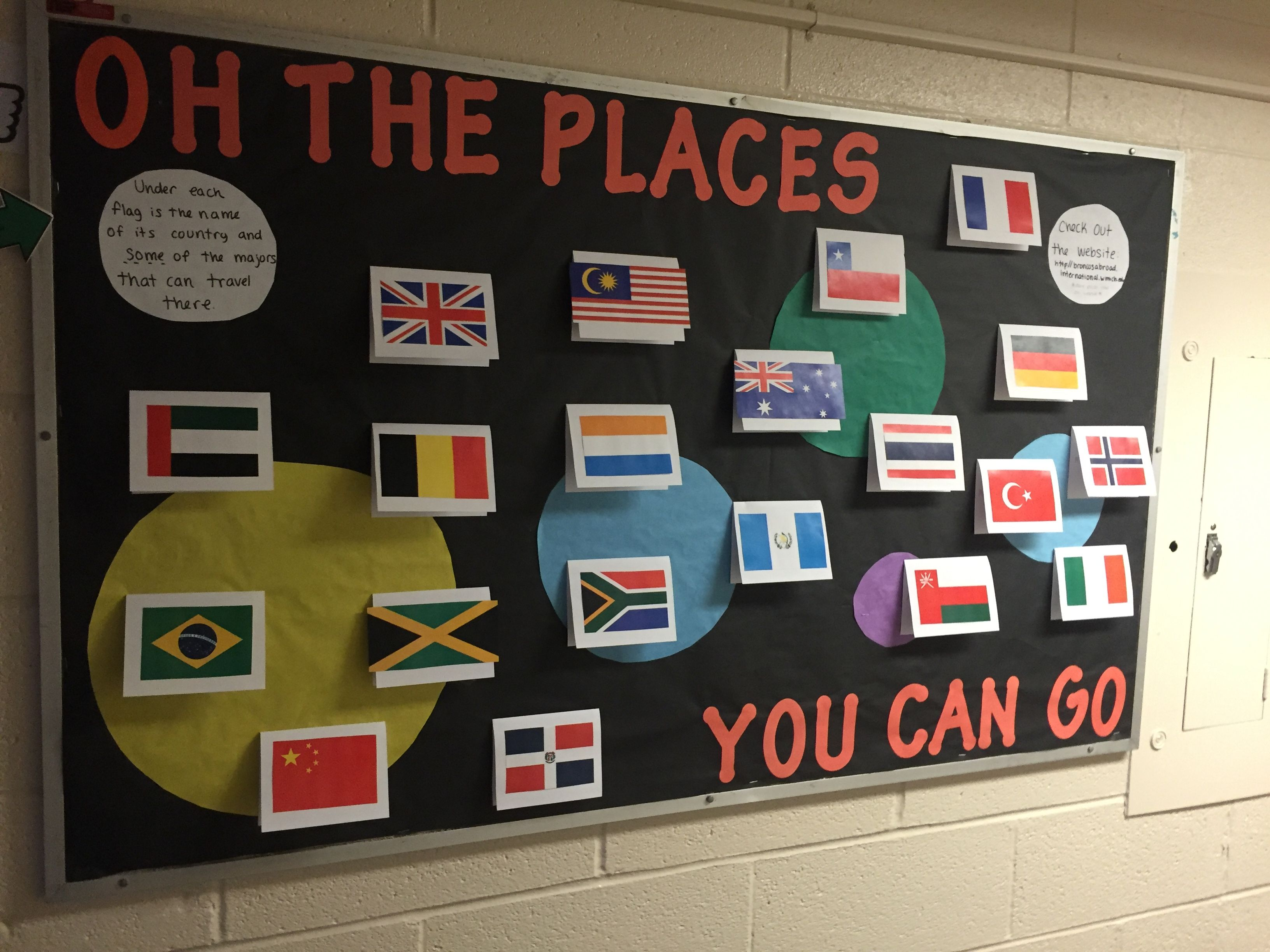 Oh The Places You Can Go Bulletin Board For Study Abroad