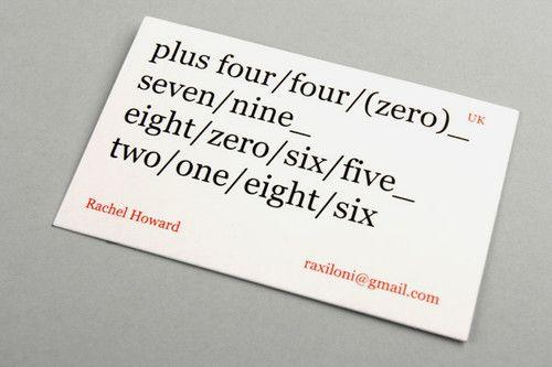 Business Card OrthographeCartes De VisiteIdes
