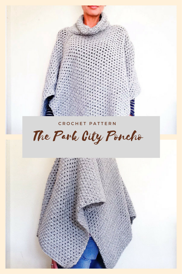A classic poncho with a relaxed fit, asymmetrical shape, and a ...