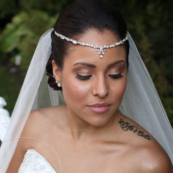 Crystal forehead headbands wedding