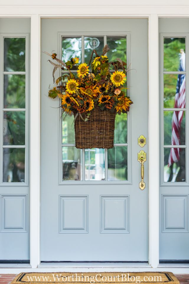 Easy And Simple Fall Front Porch {And Our New Front Door!}