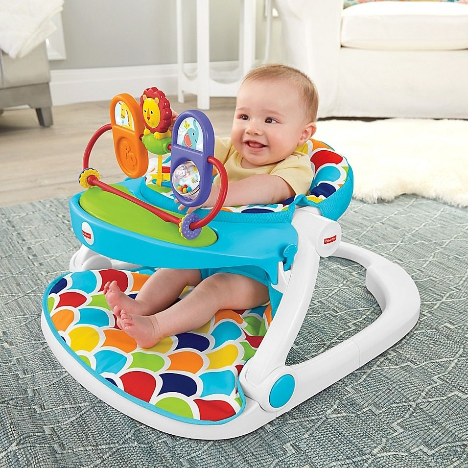 Fisher-Price Sit-Me-Up Floor Seat With Toy Tray Mu
