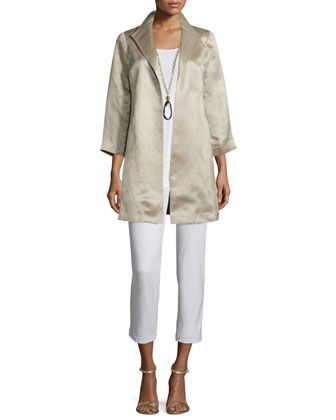High collar satin coat long silk jersey tunic  washable stretch crepe ankle pants women  by eileen fisher at neiman marcus also color chart great for identifying their colors and rh pinterest