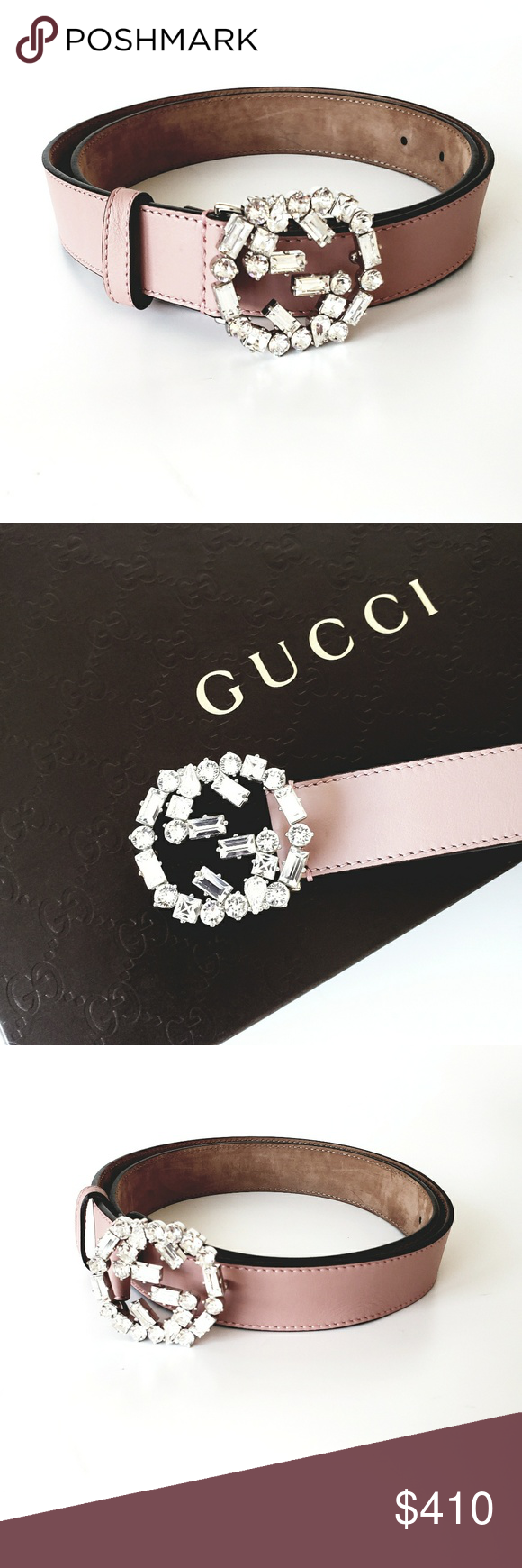 4eaf37a649f Spotted while shopping on Poshmark  Gucci Cristal Interlocking Women s  Leather Belt!  poshmark  fashion  shopping  style  Gucci  Accessories