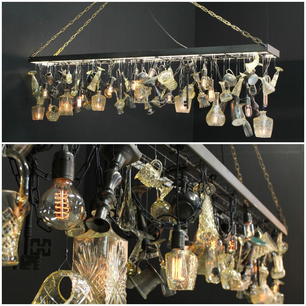 A bespoke chandelier we manufactured for the derby arms filled a bespoke chandelier we manufactured for the derby arms filled with vintage items and decanter arubaitofo Images