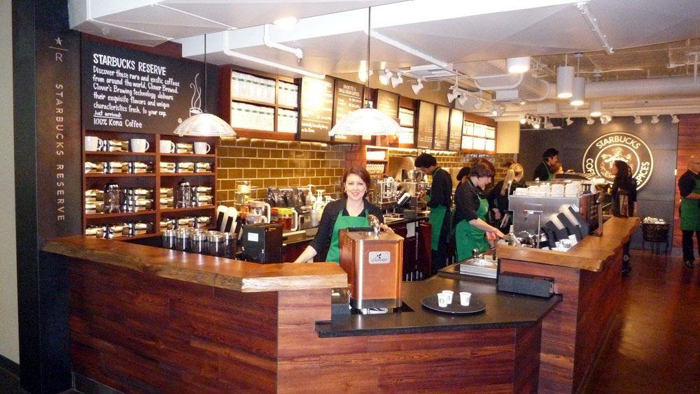 A Starbucks interior designed by Robbins   Starbucks   Pinterest