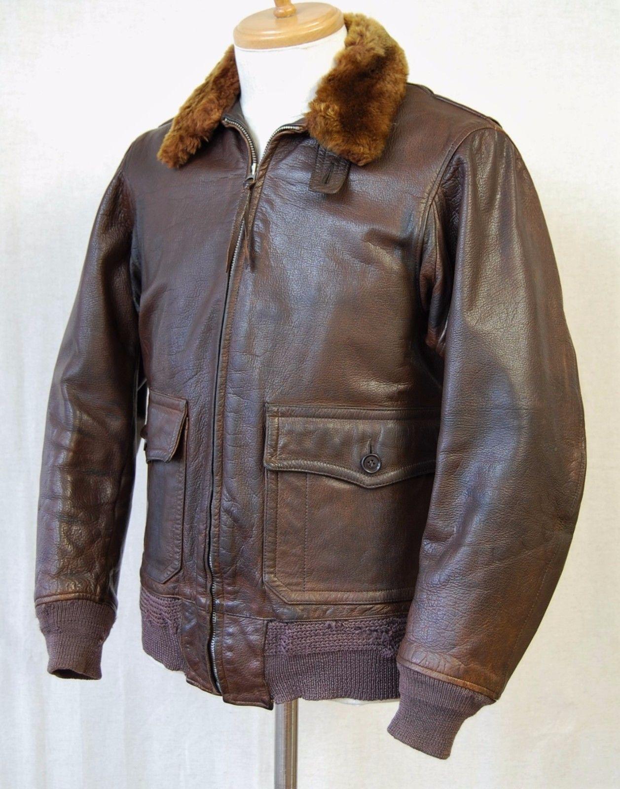 Vintage Wwii Us Navy M422a Flight Jacket Gordon Ferguson Co Size 38 493 61 Leather Flight Jacket Flight Jacket Jackets [ 1600 x 1257 Pixel ]