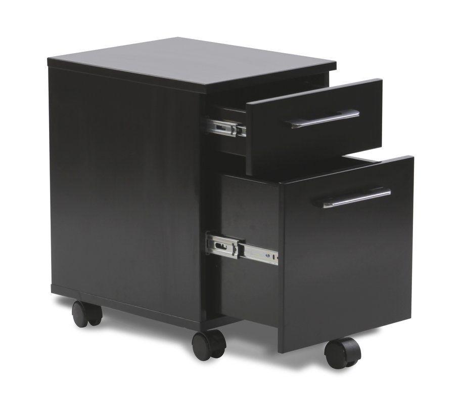 Tribeca 2 Drawer Mobile Pedestal Filing Cabinet