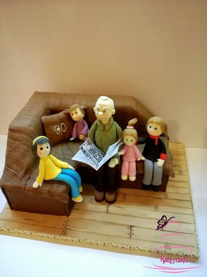 birthday cake for greatgrandfather Cake by KamiSpasova Cakes