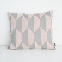 Tapetpude - lys grå/rosa