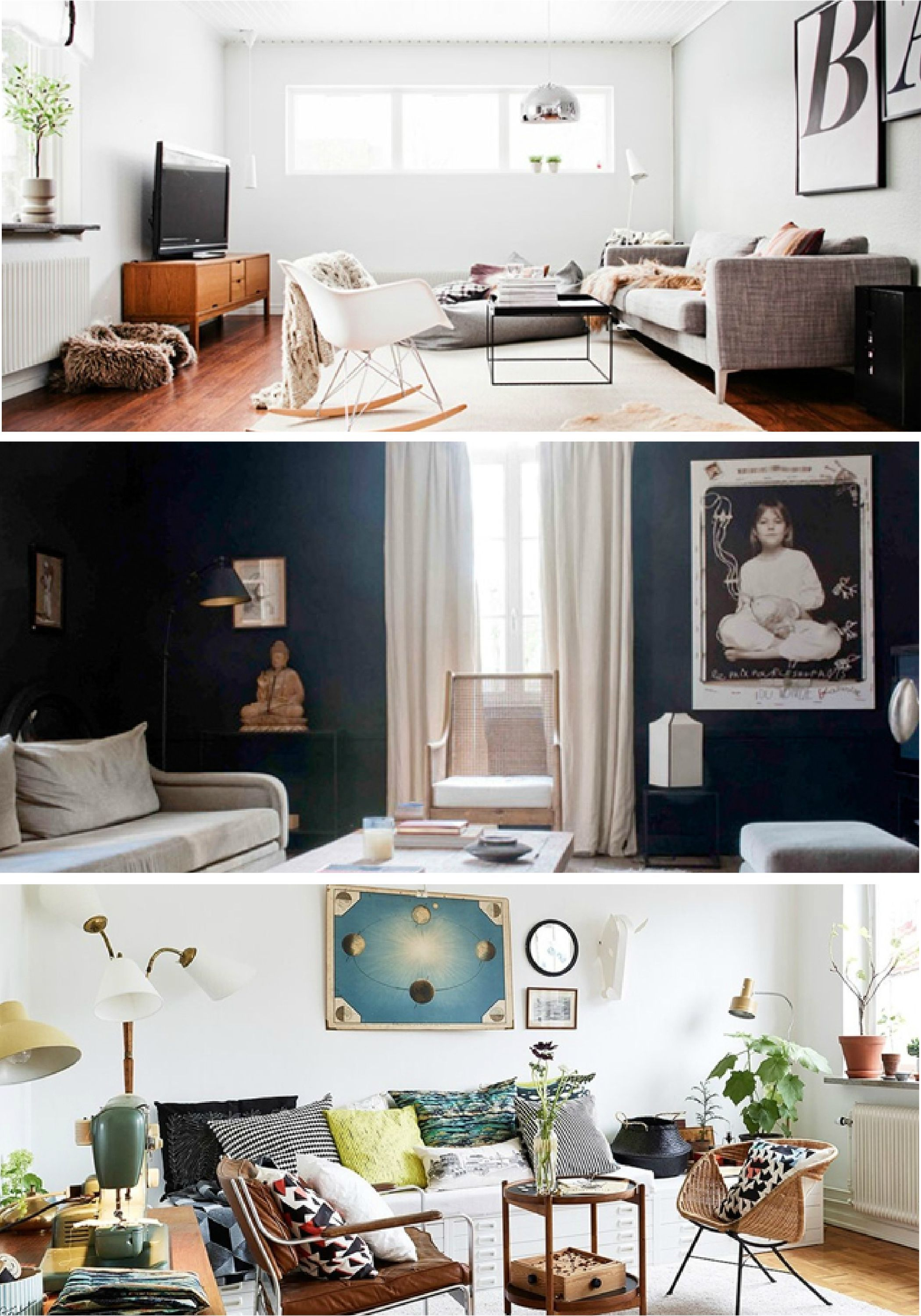 Freshen Up Your Living Room With A New Coat Of Dark Gray Paint To Bring