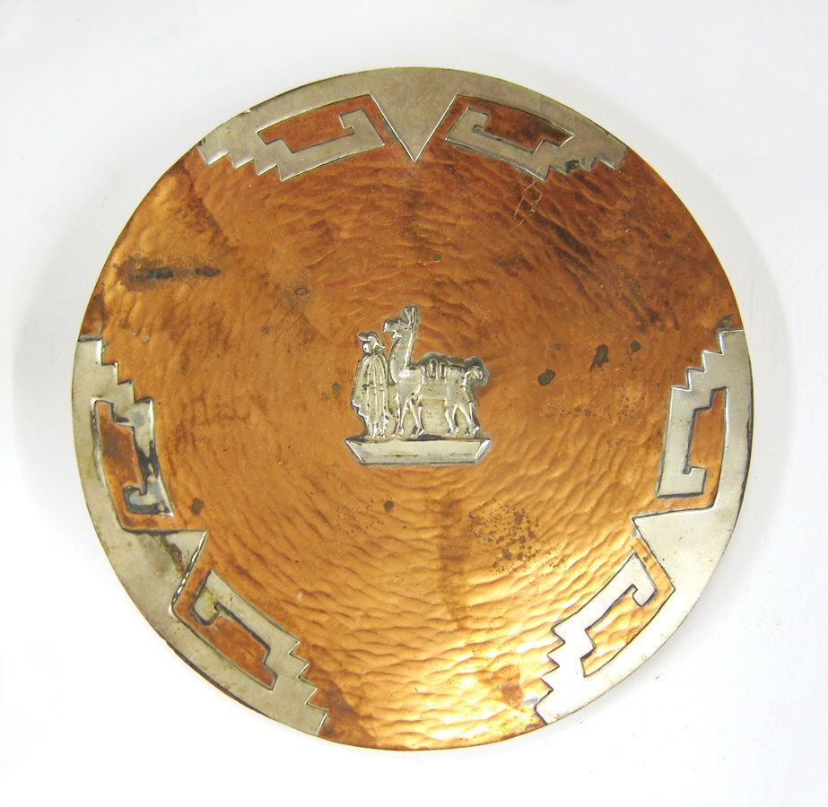 Hand-Hammered Peruvian Copper Decorative Plate by 13thhourvintageshop on Etsy // & Hand-Hammered Peruvian Copper Decorative Plate by ...