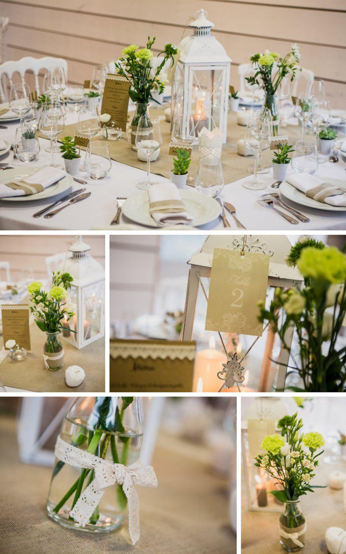 Préférence Lanterne centre de table lin et dentelle Déco et fleurs by  XO61