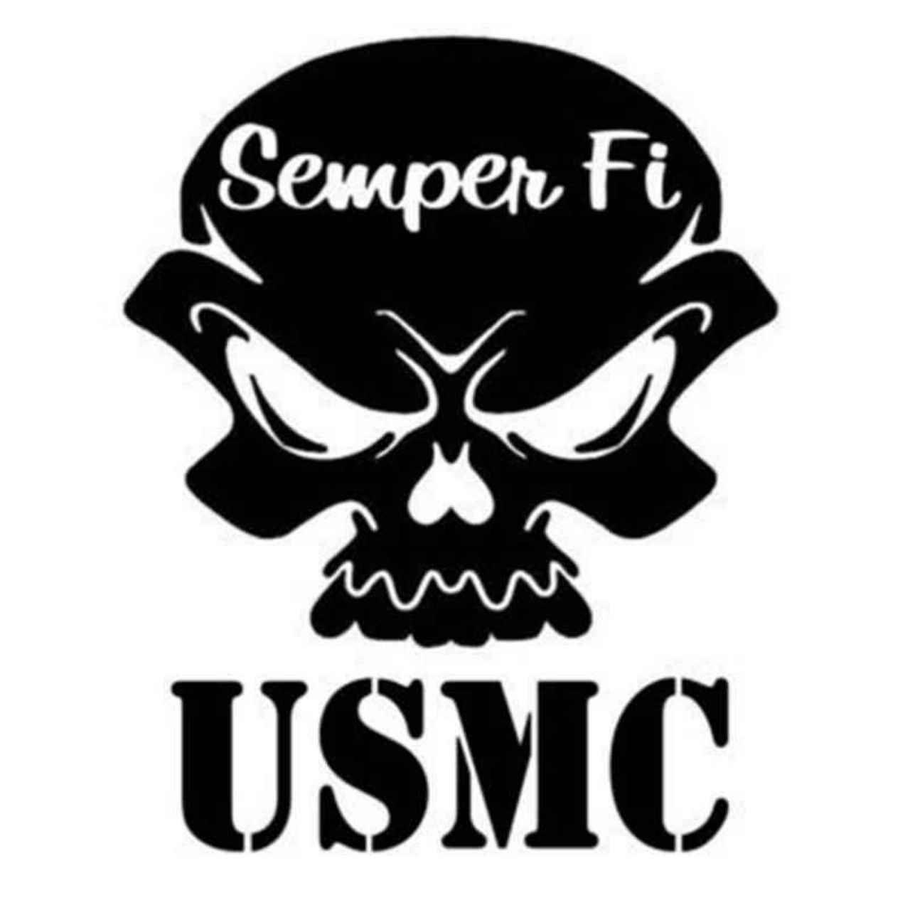 Usmc Skull 126 Decal Sticker BallzBeatz   com | tote and t