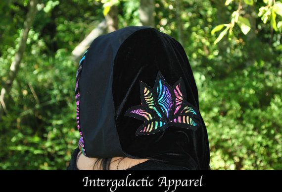 Lotus Hood with Fluorite Crystals and by IntergalacticApparel