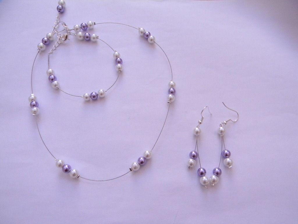 servizio duraturo l'ultimo una grande varietà di modelli Parure bijoux mariage, bijoux en perle, parme, blanc ...