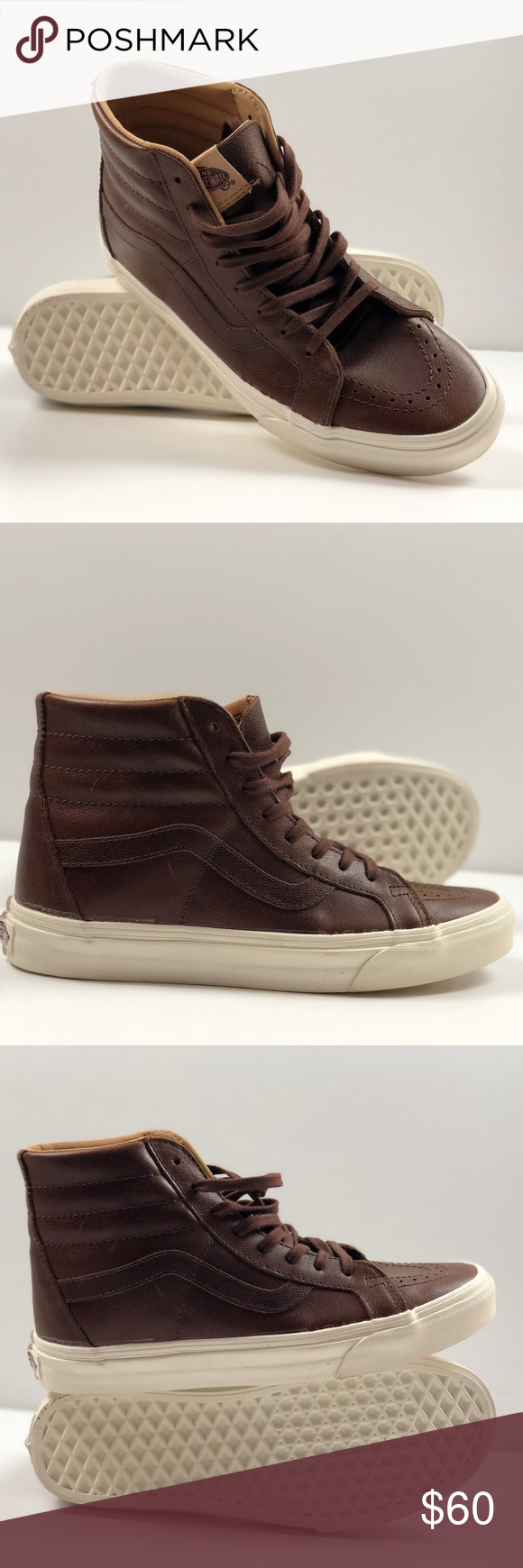51ae62e1c88 Vans SK8- Hi Reissue Lux Leather Shaved Chocolate Porcini. Condition  New  with box. Size  Women s 8.5