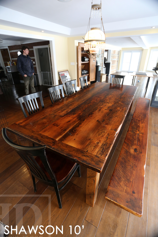 Reclaimed Wood Harvest Table By HD Threshing Floor Furniture Of Cambridge,  Ontario / Www.