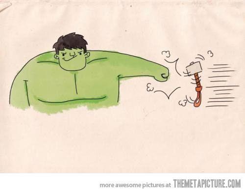 Hulk vs. Thor. Hahaha