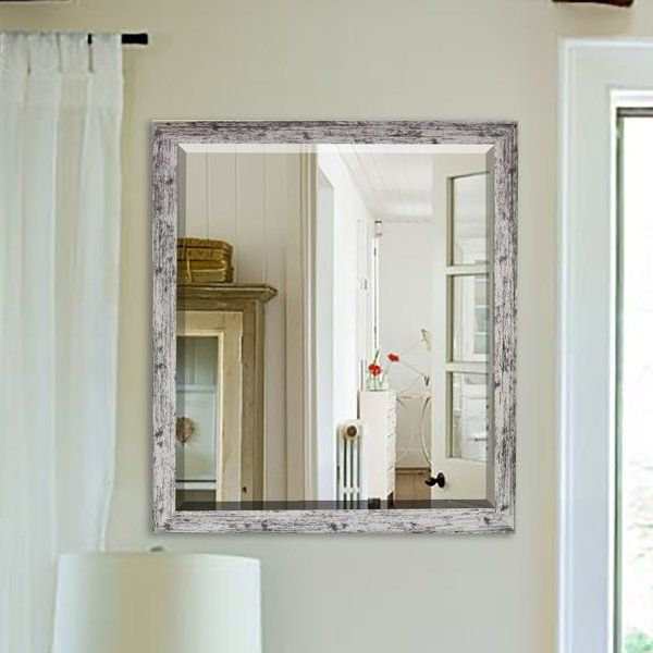One Look At This Rustic Weathered Farmhouse Accent Wall Mirror
