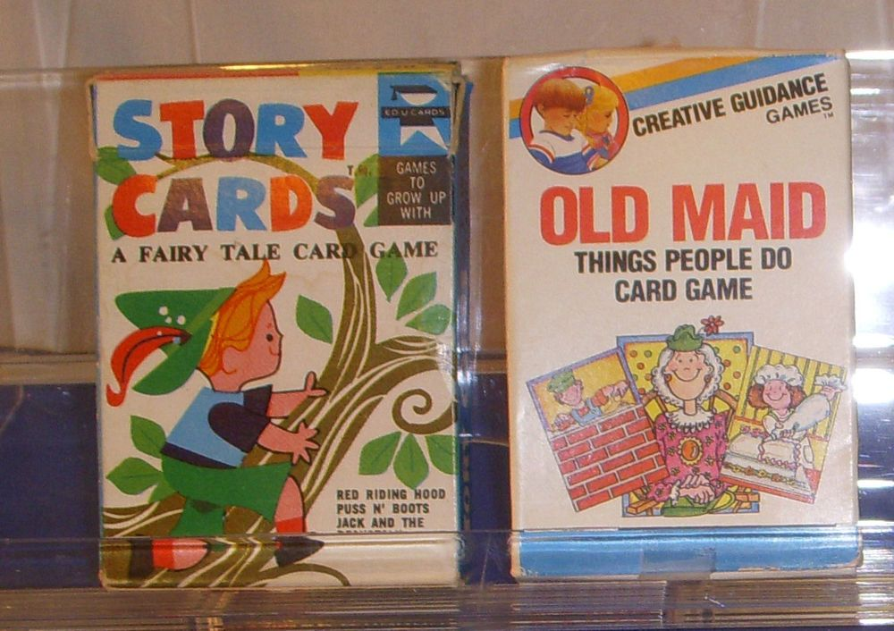 Creative guidance games old maid things people do card