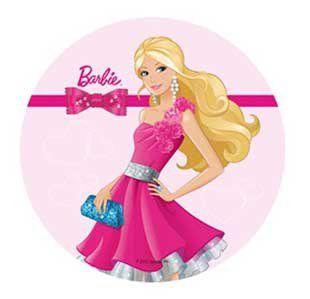 Fantastic Barbie Cake Topper 21 Cm Edible Wafer Rice Paper V Cup Cake Personalised Birthday Cards Beptaeletsinfo