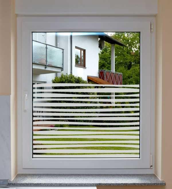fensterfolie fenstersichtschutz stripes badezimmer pinterest fenster vorh nge und. Black Bedroom Furniture Sets. Home Design Ideas