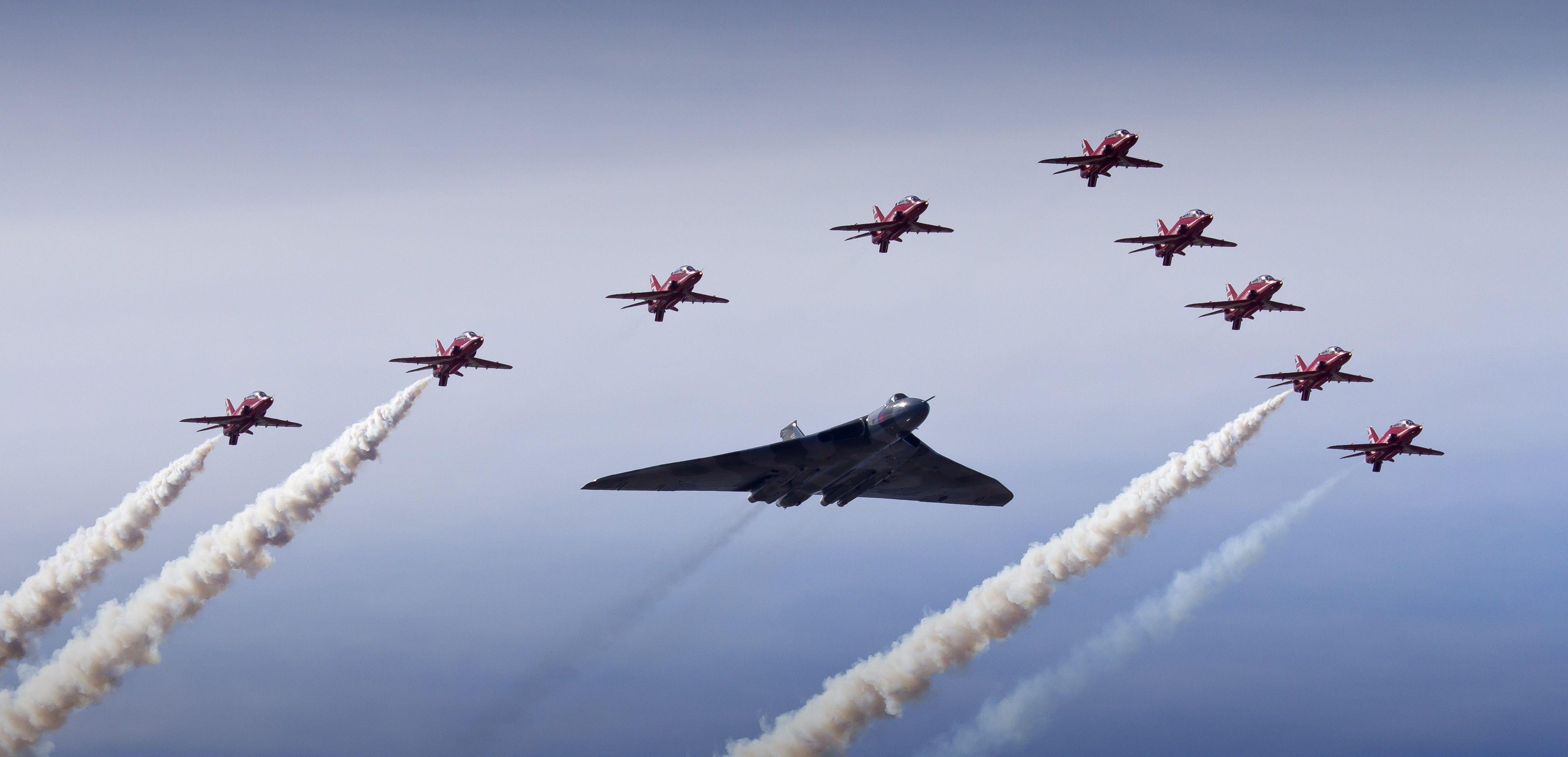 Обои Vulcan, Самолёт, bomber. Авиация foto 12