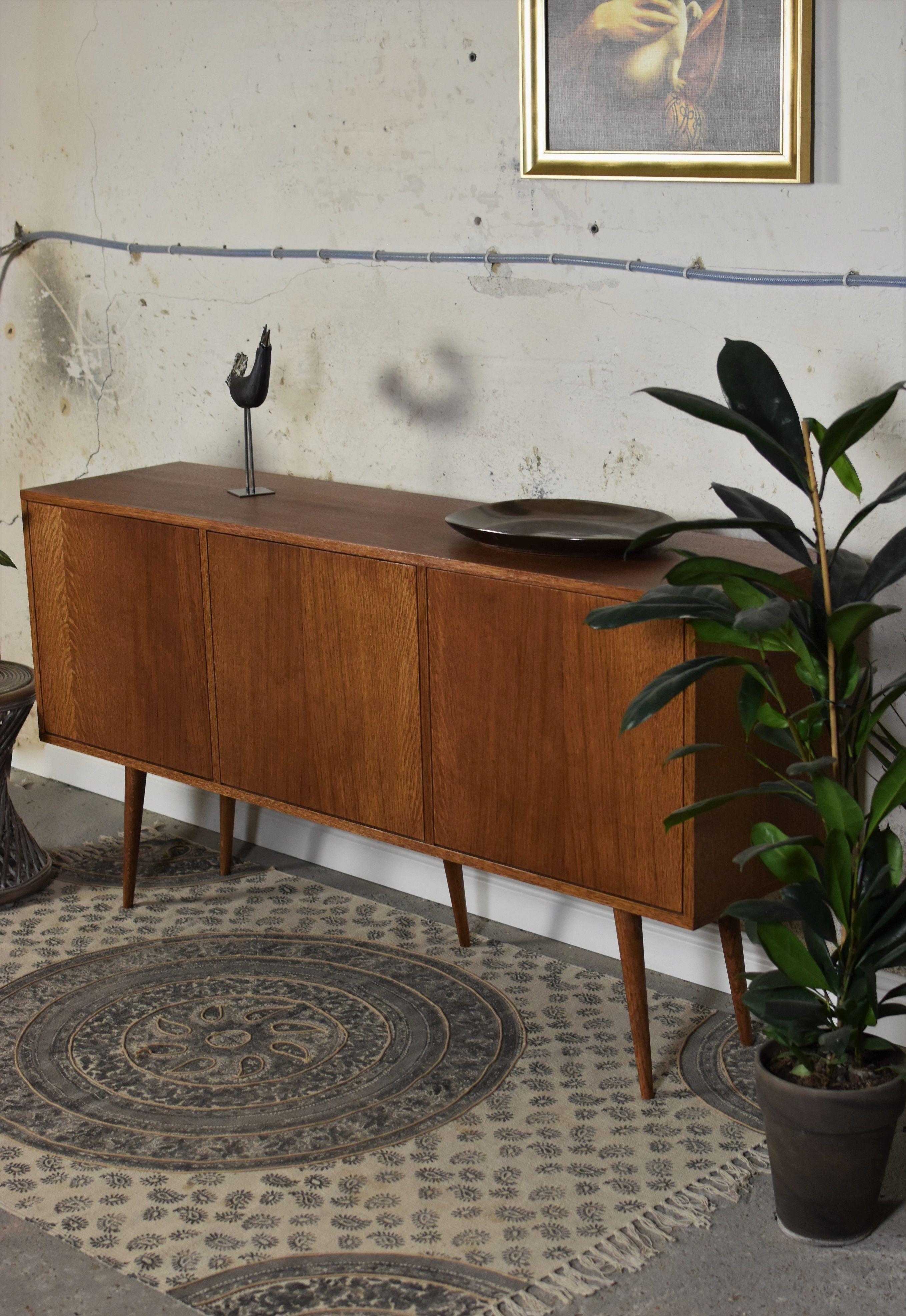 Mid Century  60S TV Stand Design Retro Sideboard Handmade Media