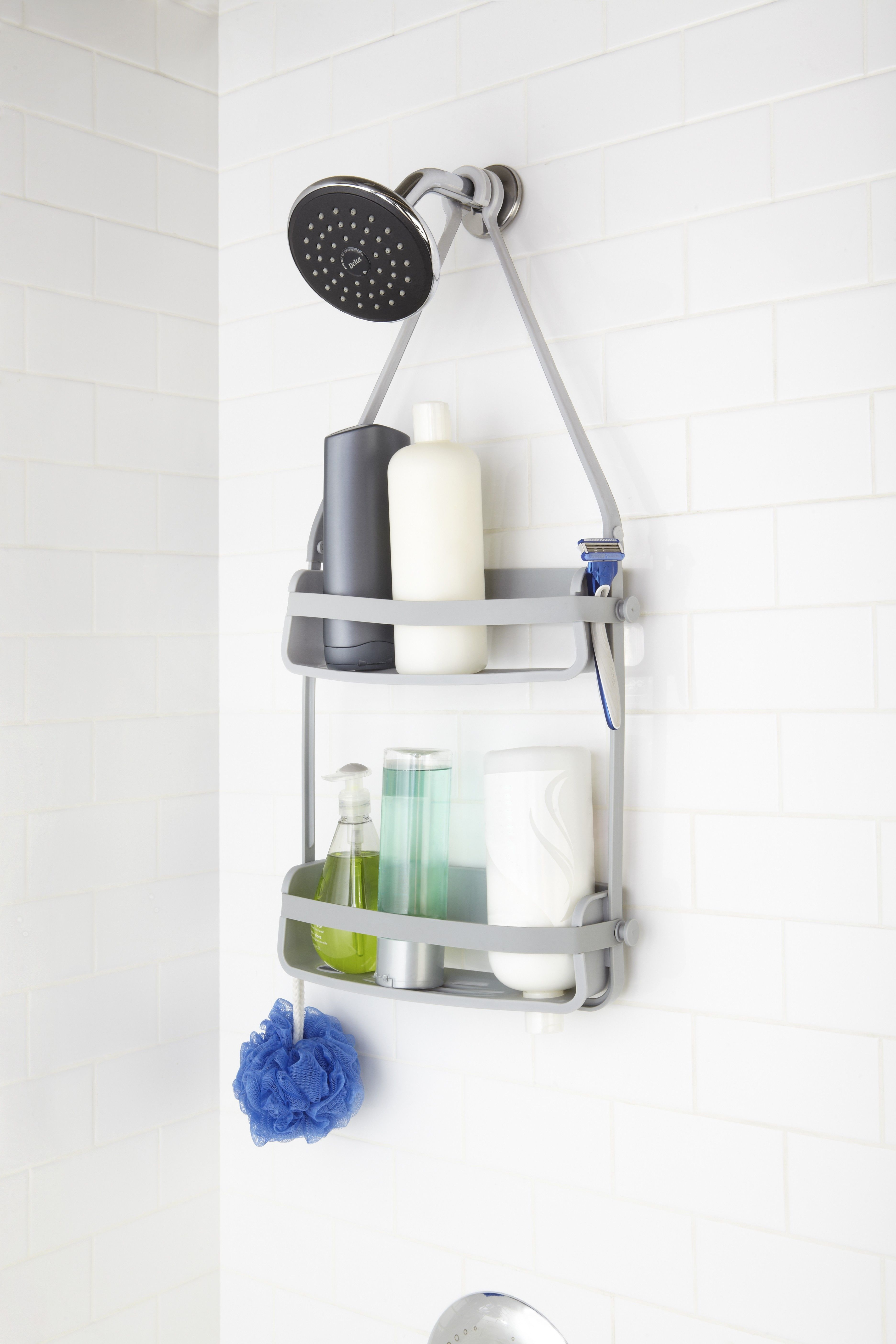 Flex Shower Caddy Grey With Images Shower Caddy Shower Accessories Shower Tub