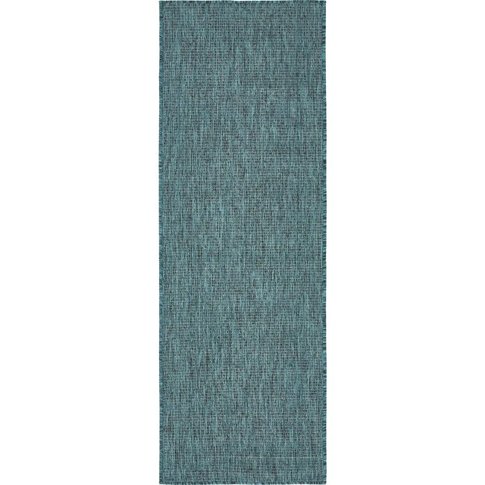 Unique Loom Outdoor Solid Teal 2 0 X 6 0 Runner Rug 3136842 Indoor Outdoor Area Rugs Outdoor Area Rugs Area Rugs