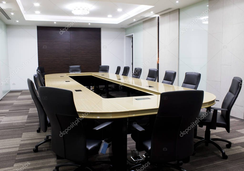 Modern Meeting Room With Table And Chairs Concept Conventon Room