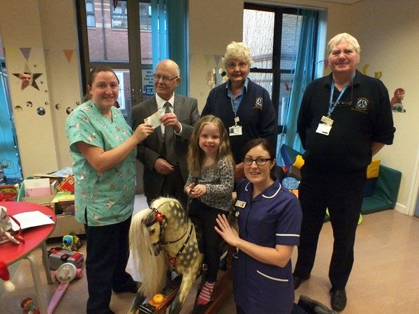 Thank you to Mr Donald Elliott for donating £600 which was used to take 'Suzy' - the Chidren's ward's rocking horse - to the vet.  Suzy looks brand new much to the delight of the children.  Mr Elliott donated the money in memory of his daughter, Suzy Elliott.