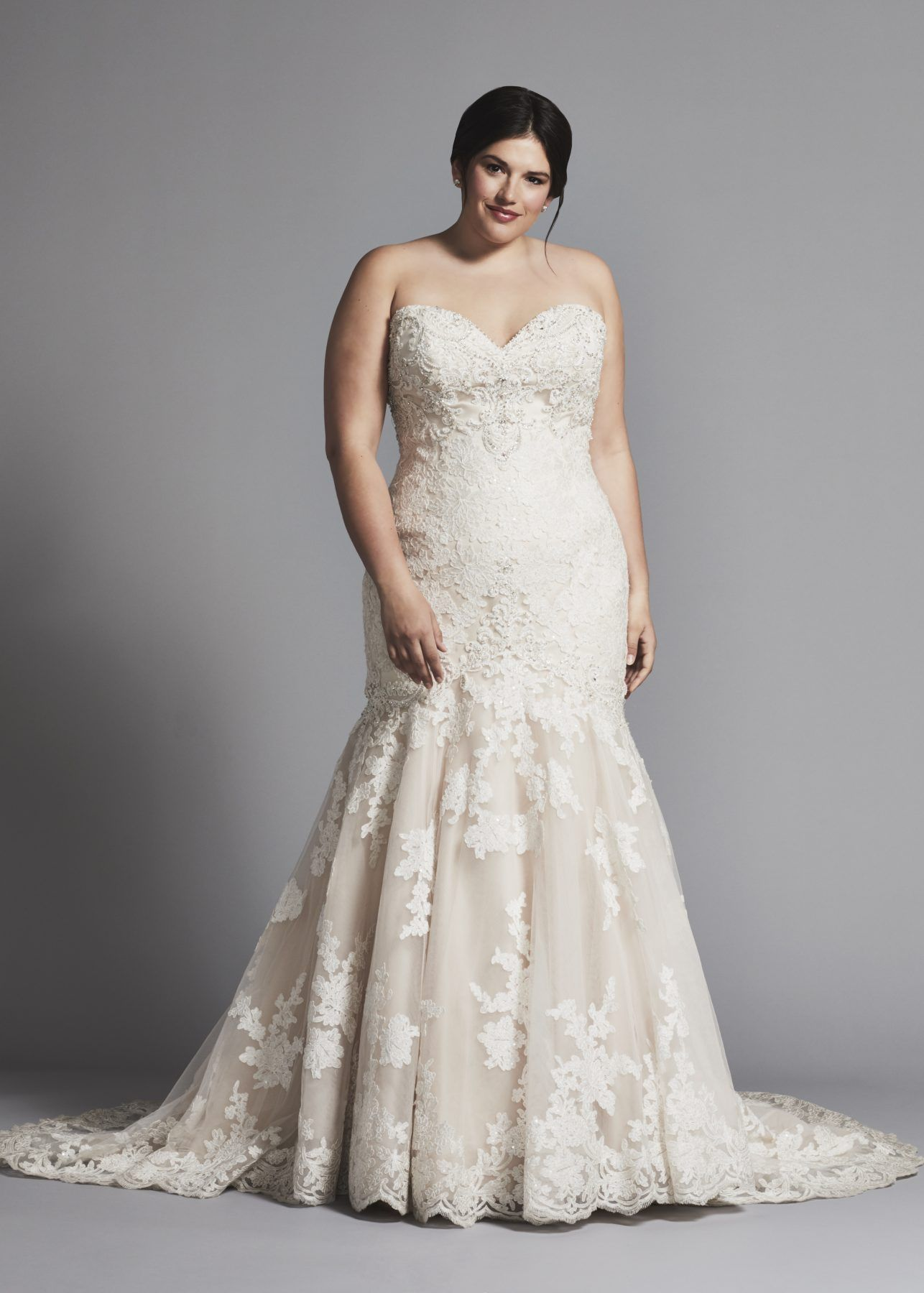 Strapless Lace Mermaid Wedding Dress Lace Mermaid Wedding Dress