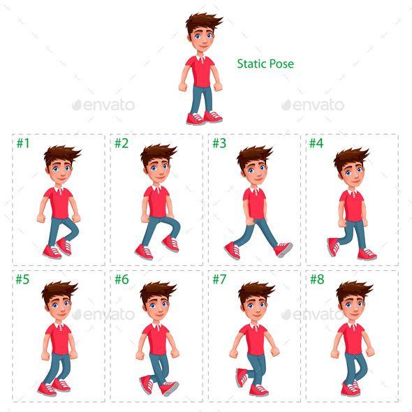 Animation Of Boy Walking Animation Walk Cycle Boy Walking Walking Animation