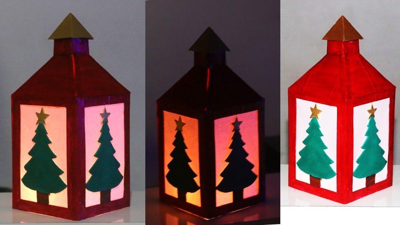 Diy Christmas Paper Candle Paper Lantern Lamp Best Out Of Waste Reuse Diy Christmas Paper Paper Candle Christmas Paper
