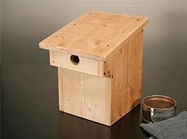 bauanleitung nistkasten bird houses bug hotel and birdhouse. Black Bedroom Furniture Sets. Home Design Ideas