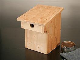 bauanleitung nistkasten bird houses bug hotel and birdhouse. Black Bedroom Furniture Sets. Home Design Ideas