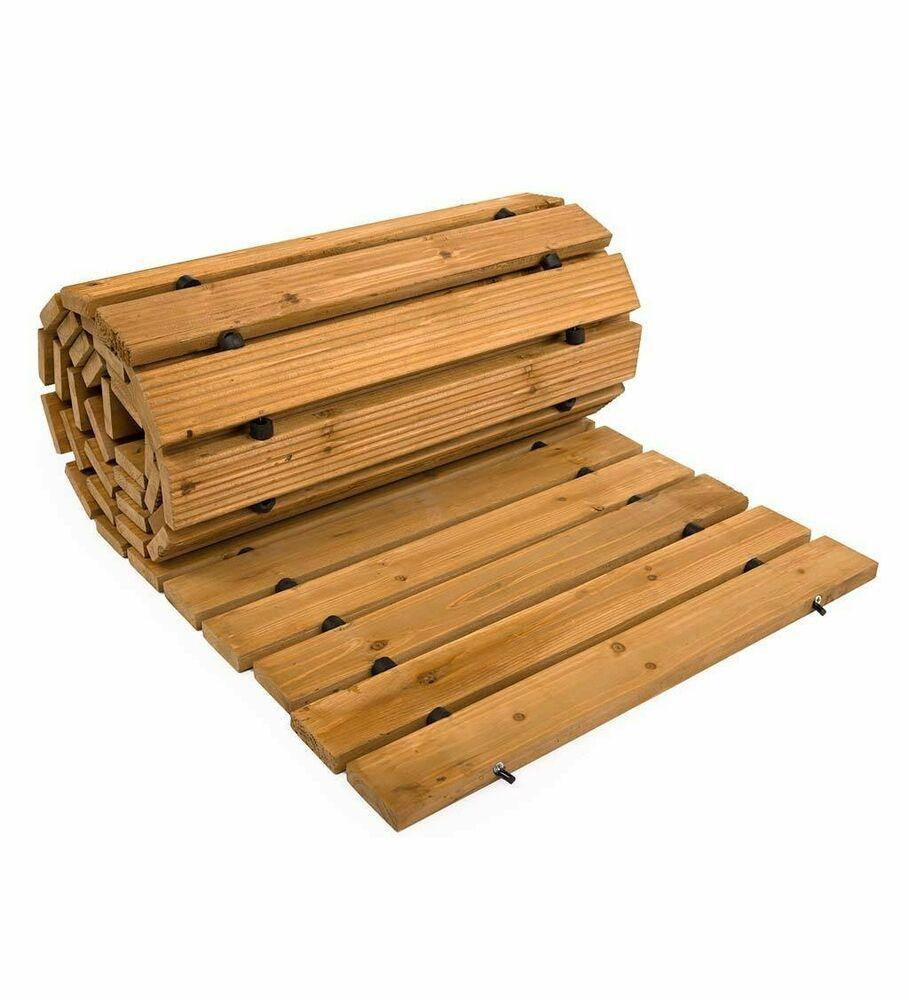 Garden Walkway Portable Roll Up Pathway Weather Resistant Cedar