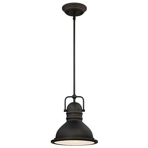 Best bathroom light fixtures westinghouse 63087a boswell onelight led indoor pendant oil rubbed bronze finish