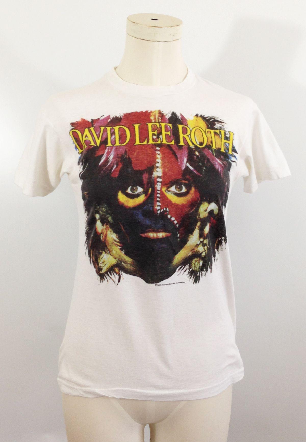 David Lee Roth Eat Em And Smile World Tour T Shirt Tour T Shirts T Shirt Shirts