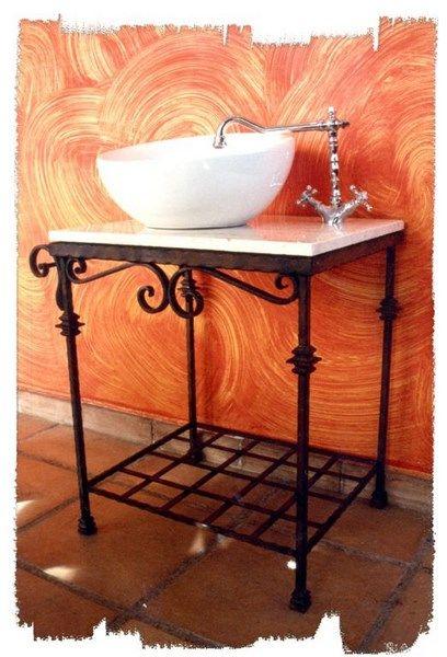 Mueble de hierro forjado para lavabo hierro forjado - Mueble de lavabo ...